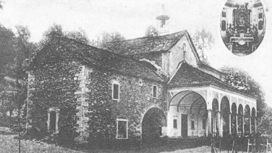 Cossogno_Casa dei Banditi annessa all'oratorio d'Inoca in una cartolina anni '20 del '900